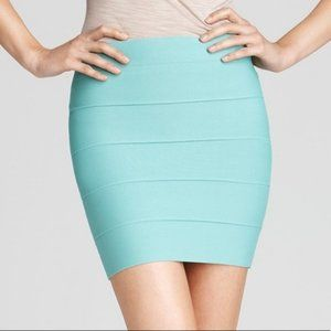 BCBG Simone Bandage Mini Skirt Mint Green NWT